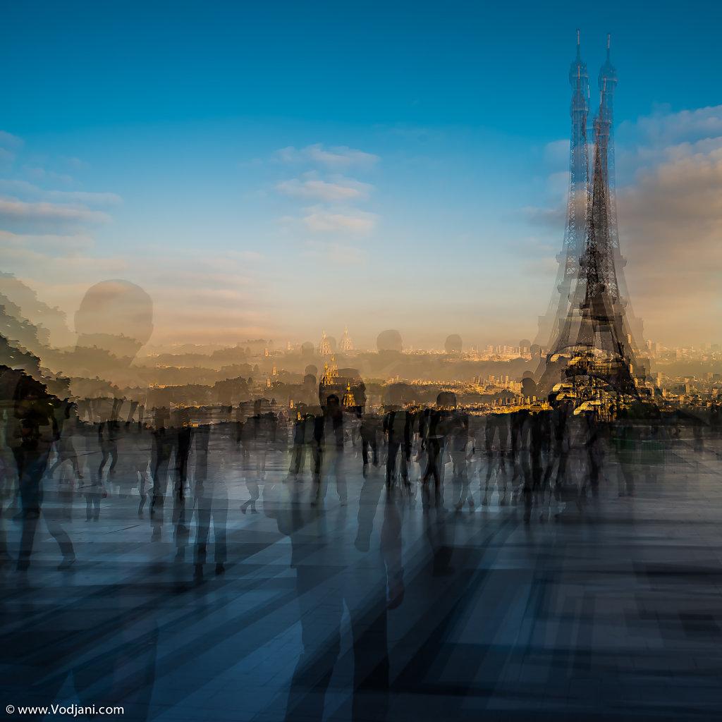 Trocadero silhouette - Paris-
