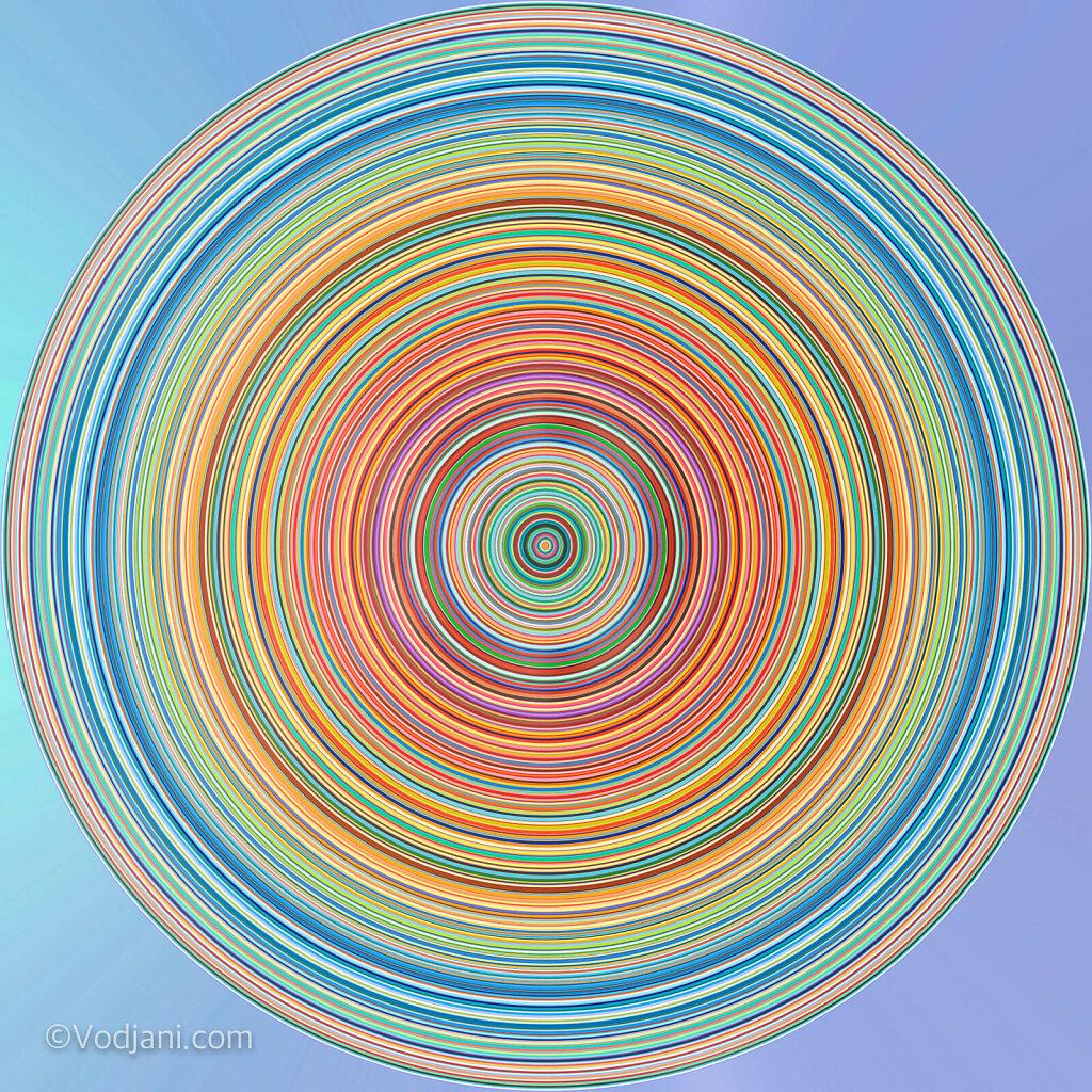 Multicolor vertical stripes